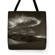 Sunset Over Sand Dunes Death Valley Tote Bag