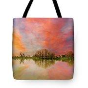Sunset Over Sauvie Island Tote Bag