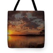 Sunset Over Shark River Tote Bag