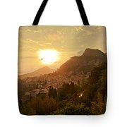 Sunset Over Sicily Tote Bag