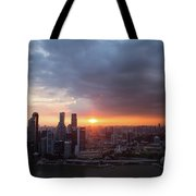 Sunset Over Singapore Tote Bag