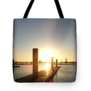 Sunset Over Snohomish River Tote Bag