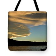 Sunset Over South Island Of New Zealand Tote Bag