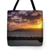 Sunset Over St. Thomas Tote Bag