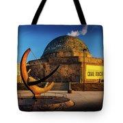 Sunset Over The Adler Planetarium Chicago Tote Bag