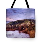 Sunset Over The American River Tote Bag