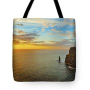 sunset over the Aran Islands Tote Bag