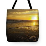 Sunset Over The Beach Tote Bag