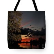 Sunset Over The Caloosahatchee Tote Bag