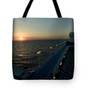 Sunset Over The Caribbean Sea As Seen Tote Bag