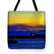 Sunset Over The Carl Vinson Tote Bag