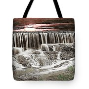 Sunset Over The Dam Tote Bag