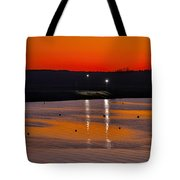 Sunset Over The Denison Dam Tote Bag
