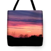Sunset Over The Farm Tote Bag