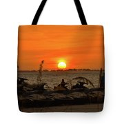 Sunset Over The Gulf 1 Tote Bag