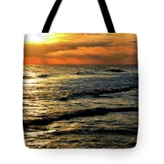 Sunset Over The Gulf Tote Bag