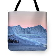 sunset over the Icefjord - Greenland Tote Bag