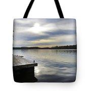 Sunset Over The Lake. Tote Bag