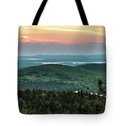 Sunset Over The Lakes Tote Bag