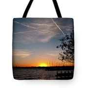 Sunset Over The Marina Tote Bag