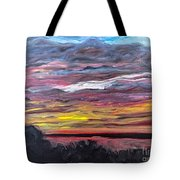 Sunset Over The Mississippi Tote Bag