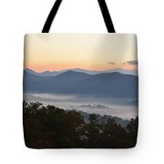 Sunset Over The Mountaintops Tote Bag