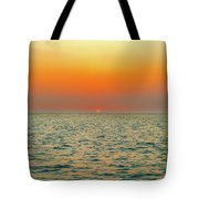 Sunset Over The Ocean In Galapagos Tote Bag