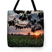 Sunset Over The Plains Tote Bag