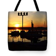 Sunset Over The River Tote Bag