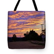 Sunset Over The Wheat Fields Tote Bag