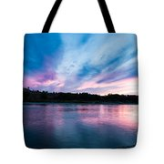 Sunset Over The Yellowstone Tote Bag