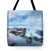 Sunset Over Thor's Well Tote Bag
