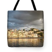 Sunset Over Udaipur Tote Bag