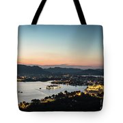 Sunset Over Udaipur In India Tote Bag