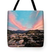 Sunset Over Uh Manoa Tote Bag