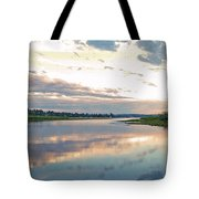 Sunset Over Union Bay Tall Panorama Tote Bag