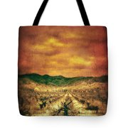 Sunset Over Vineyard Tote Bag by Jill Battaglia