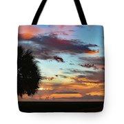 Sunset Palm Florida Tote Bag