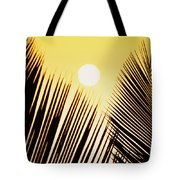 Sunset Palm Fronds Tote Bag