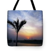 Sunset - Palm Tree Tote Bag