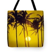 Sunset Palms And Family Tote Bag