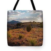 Sunset Panorama Of Blue Mountain At Davis Mountains State Park - Indian Lodge Trail Fort Davis Texas Tote Bag