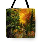 Sunset Path Tote Bag