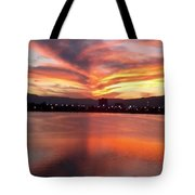 Sunset Patterns Tote Bag