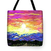 Sunset Pearblossom Highway Tote Bag