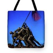 Sunset Photo At The Iwo Jima Monument Tote Bag