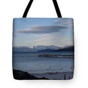 Sunset Pier Tote Bag