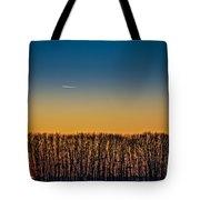 Sunset Plane Tote Bag
