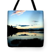 Sunset Pond Tote Bag
