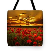 Sunset Poppies The Bbmf Tote Bag